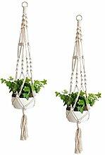Hemoton 2 Stück Makramee Pflanzen Kleiderbügel
