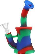 HEMOTON 2Pcs Silikon Blume Vase Rot Blau Grün