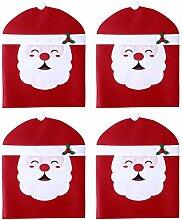 Hemoton 4 Stück Weihnachten Stuhlhusse Weihnacht