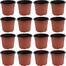 Hemoton 50 Stück Kunststoff Pflanzer Pflanzen
