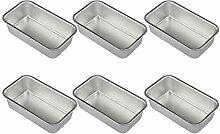 Hemoton 6 Stück Aluminiumlegierung Laib Dose