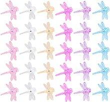 Hemoton 60 Stücke Orchideen Clips Kunststoff