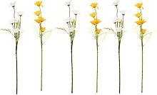 HEMOTON 6Pcs Künstliche Daisy Blumen Kunststoff