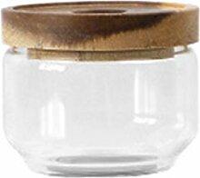 Hemoton 750Ml Transparentes Glas mit Holzdeckel
