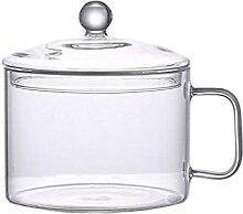 HEMOTON Borosilikatglastopf zum Kochen von