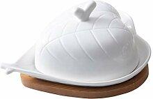 HEMOTON Butterdose mit Deckel Porzellan