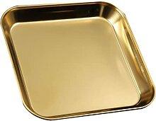 HEMOTON Edelstahl Platten Tablett: Flache Teller