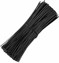 Hemoton Kabelbinder Schwarze Kunststoff