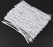 Hemoton Kabelbinder Weiß Kunststoff Pflanze