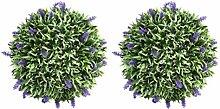 HEMOTON Künstliche Buchsbaumkugel mit Lavendel,