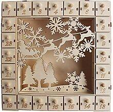 Henan Adventskalender aus Holz,