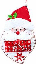 Henan Adventskalender mit Weihnachtsmann-Motiv,