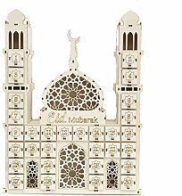 Henan Eid Mubarak Countdown Kalender DIY Holz