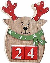 Henan Holz Schneemann Santa Claus Adventskalender