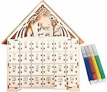 Henan Lindenholz Adventskalender DIY mit 4