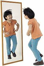 HenBea Kinder Spiegel mit Holz Rahmen, Kunststoff,