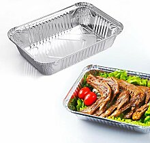 Heng 10Pcs Küche BBQ Aluminiumfolie Tabletts