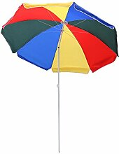 Hengda® 1.4m Bunt Sonnenschirm Garten Schirm Marktschirm Ampelschirm Kurbel Schirm für Garten, Terrasse, Loggia, Balkon, Camping-Platz, Pool, Planschbecken