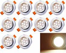 Hengda 10 Pack 7W LED Einbaustrahler Schwenkbar