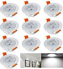 Hengda® 10 Stück 3W LED Einbauleuchte Spot