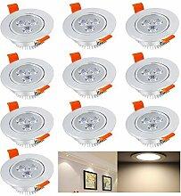 Hengda® 10x 3W LED Einbauleuchte Spot Decken