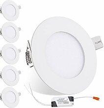 Hengda 10X LED Einbaustrahler Flach 3W IP44