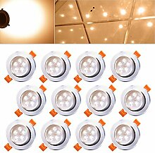 Hengda® 12 x 5W LED Warmweiß 2800-3200k LED Spot