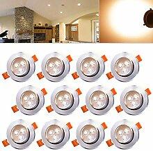 Hengda® 12er Pack 3W LED Einbauleuchte Set