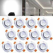 Hengda 12x 3W LED Einbaustrahler Dimmbar Kaltweiß