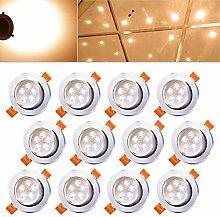 Hengda® 12X 5W LED Einbauleuchte Aluminium für