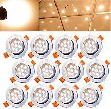 Hengda® 12X 7W LED Einbauleuchte Spotleuchten