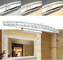 Hengda® 18W LED Kristalle Spiegelleuchte Badleuchte 3in1 Farbwechsel Badleuchte Schranklampe Aufbauleuchte Wandlampe Mit Schalter Energie Sparen Spiegelschrank Leuchte