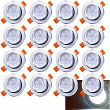 Hengda 20 Pack 5W LED Einbaustrahler Schwenkbar