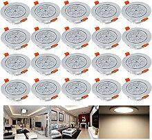 Hengda® 20 Set 7W LED Einbauleuchte