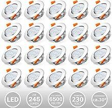 Hengda 20er Set 3W schwenkbare LED Einbaustrahler