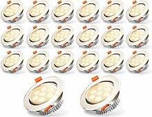 Hengda 20er Set Schwenkbare LED Einbaustrahler
