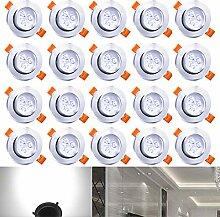 Hengda® 20X 3W LED Einbauleuchte Deckenleuchten
