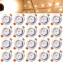 HENGDA® 20x 5W LED Warmweiß Einbauleuchte Einbau