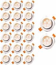 Hengda 20x LED Einbaustrahler Dimmbar 5W 420LM