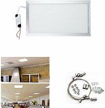 Hengda® 24W 30x60cm LED Panel IP45 Wandleuchte Neutralweiß Garderobe Einbauleuchte Aluminiumgehäuse Lampe Leuchte 6000K-6500K