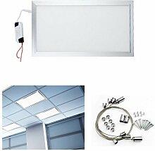 Hengda® 24W LED Panel ULTRASLIM Deckenleuchte Eckig NICHT Dimmbar Pendelleuchte 30x60cm 2160LM Weiß 4014 SMD Lampe