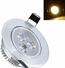 Hengda® 3W Warmweiß Dimmbar Flach LED