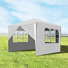 Hengda 3x3m Pavillon, Gartenpavillon mit 4