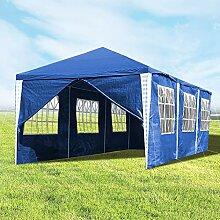Hengda 3x9m Pavillon UV-Schutz Blau Partyzelt