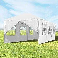 Hengda 3x9m Pavillon UV-Schutz weiß Partyzelt