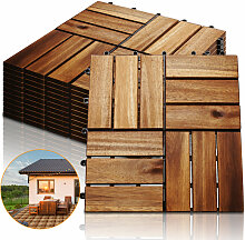 Hengda 55 Stück Holzfliesen aus Akazienholz