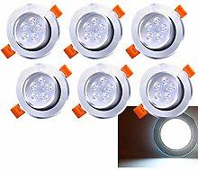 Hengda 6 Pack 5W LED Einbaustrahler Schwenkbar