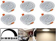 Hengda® 6 pcs 7W LED Unterbauleuchte Deckenspots