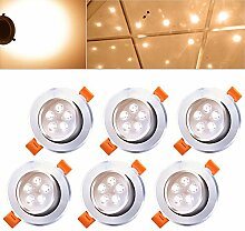 Hengda® 6er Pack 5W LED Warmweiß 2800-3200k LED