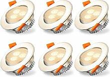 Hengda 6er Set schwenkbare LED Einbaustrahler 3